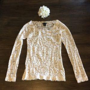 NWOT Victoria's Secret Lace Shirt Small